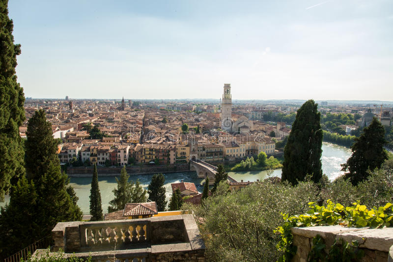 Verona. The city of love in Italy. Famous because of the drama & x22;Romeo and Juliet& x22; of William Shakespeare. Except the house of Juliet - la casa di stock photography