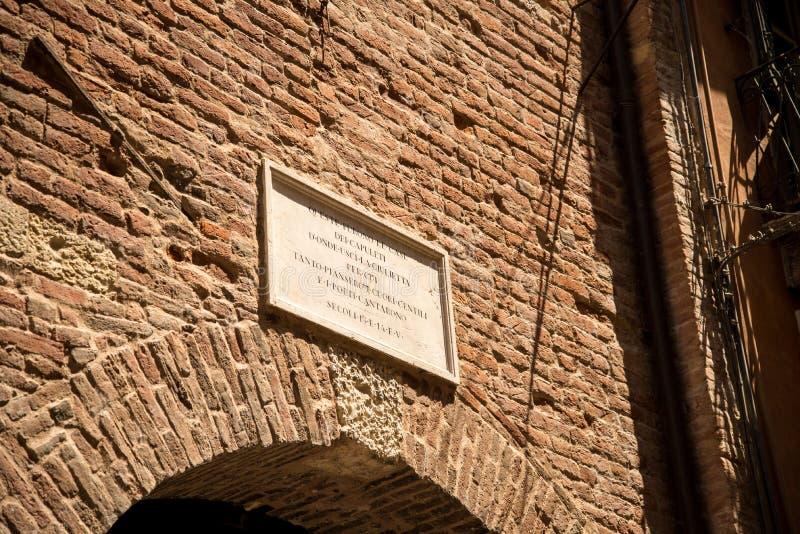 Verona dom Juliet obraz royalty free