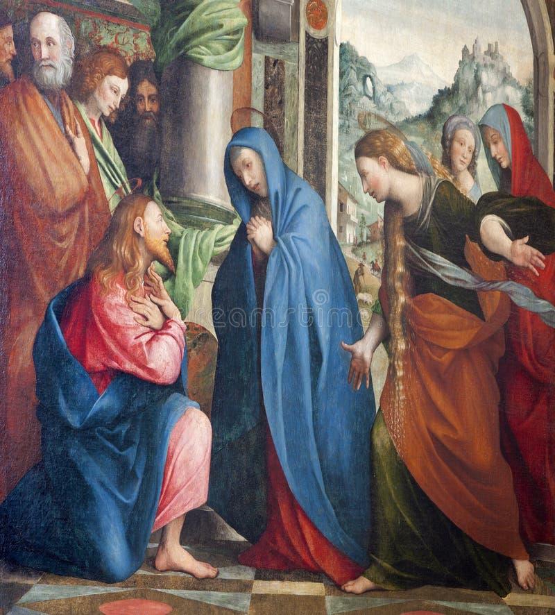 Verona - el venir de Jesús mimar foto de archivo libre de regalías