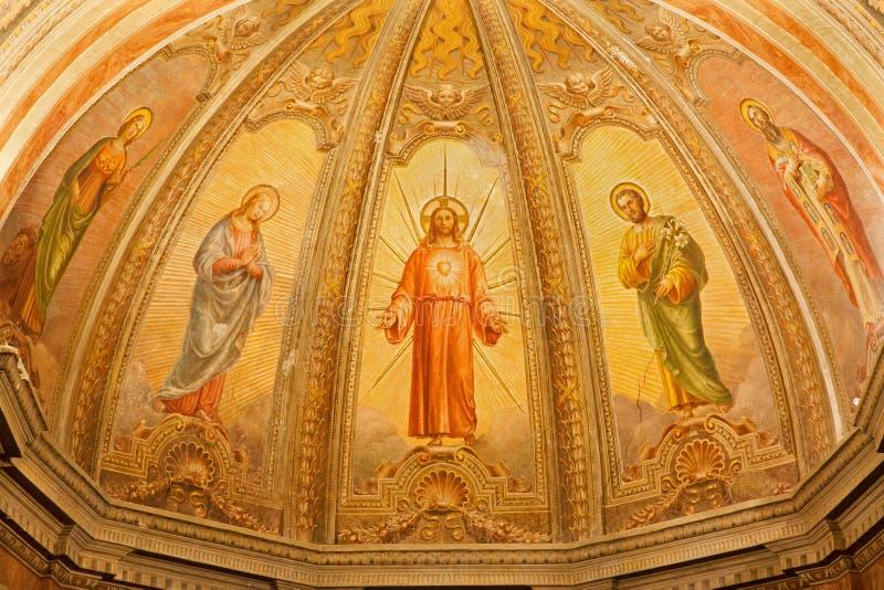 Verona - fresk Wskrzeczam Jezus od głównej apsydy kościelny Santa Eufemia zdjęcie royalty free