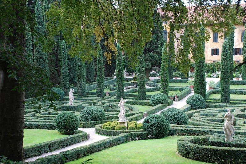 Verona, Giusti ogród obraz stock