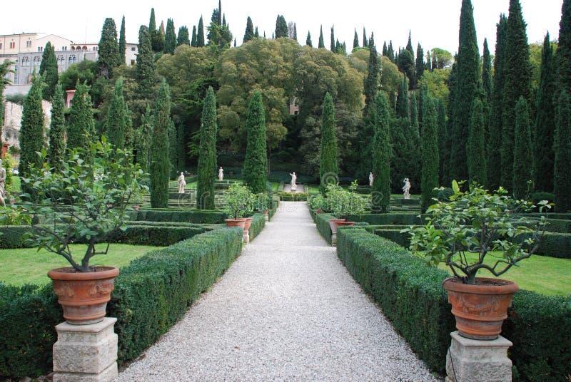 Verona, Giusti ogród obraz royalty free