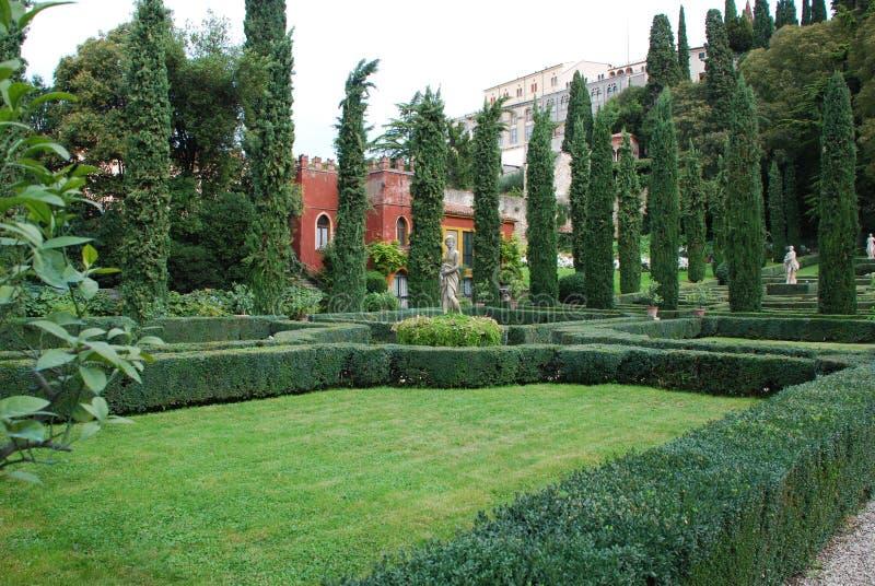 Verona, Giusti ogród zdjęcie stock