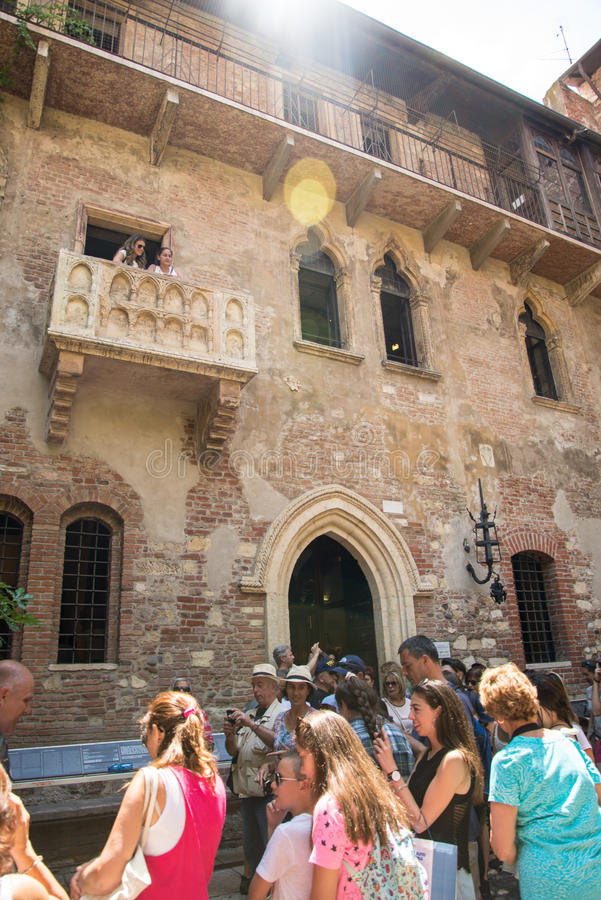 Verona the house of Juliet. The city of love in Italy. Famous because of the drama Romeo and Juliet of William Shakespeare. Except the house of Juliet - la casa royalty free stock images