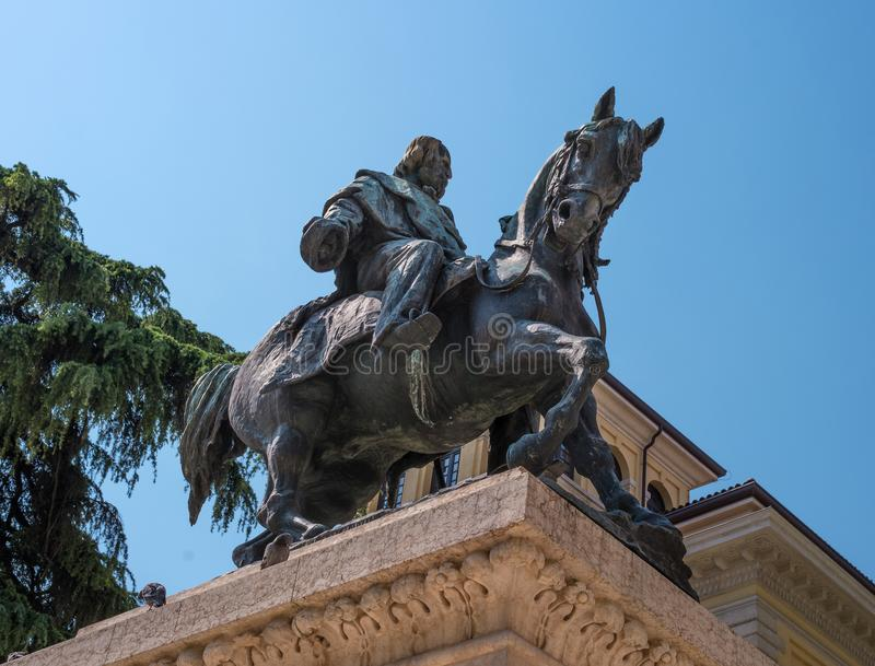 Verona, Italië - 06 Mei 2018: Monument aan Giuseppe Garibaldi in Verona Monument aan Giuseppe Garibaldi op royalty-vrije stock foto