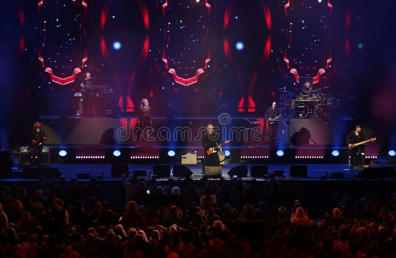 Verona, Italia - 14 ottobre 2017: ESAURITO a Live Concert di Um fotografia stock