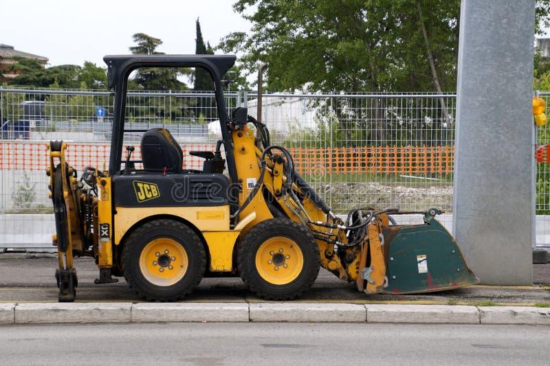 JCB 1XC road construction vehicle royalty free stock image