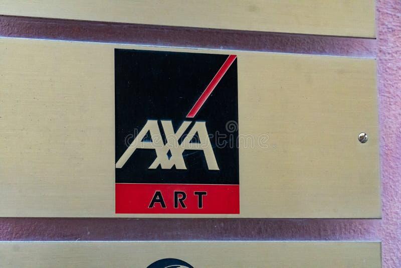 Insurance company AXA Art. Verona, Italy - September 5, 2018: AXA Art logo. AXA is a French multinational insurance firm that engages in global insurance stock photography