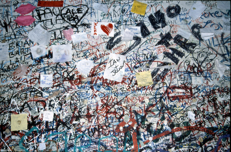 Verona - letters and graffiti royalty free stock photos