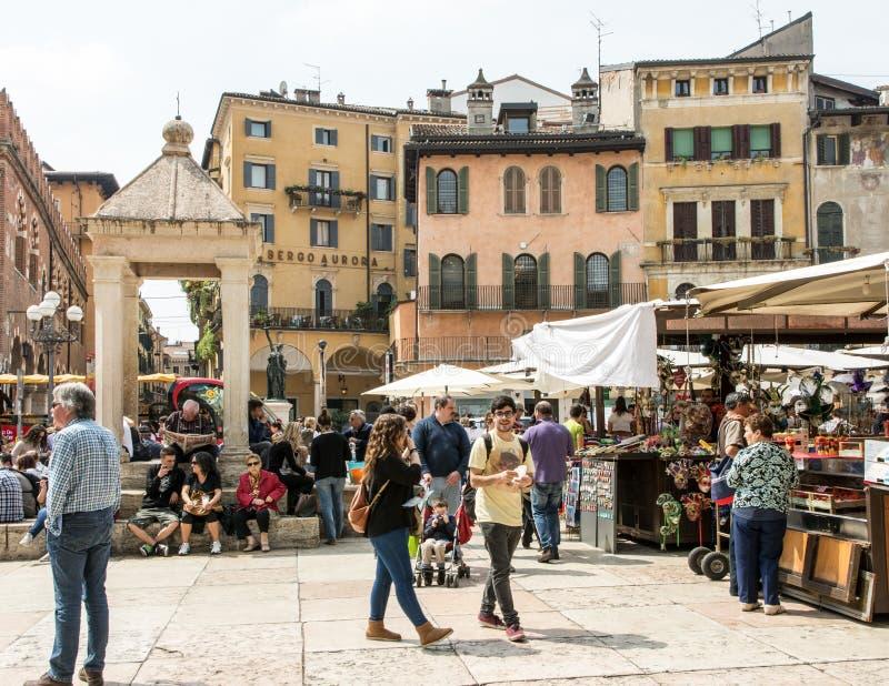 Verona Market Square stockfotografie