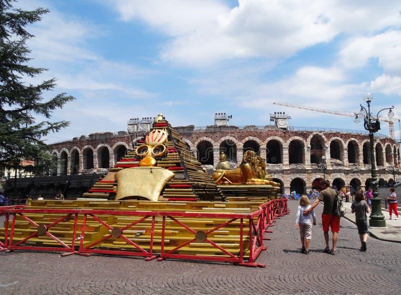 Verona opera arkivfoton