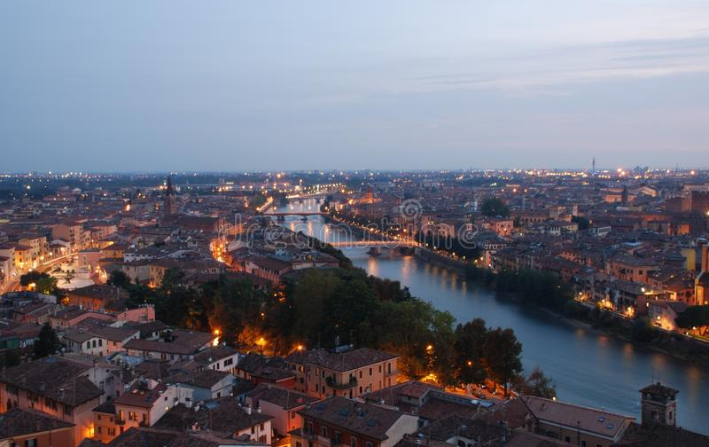 Verona panorama obraz royalty free