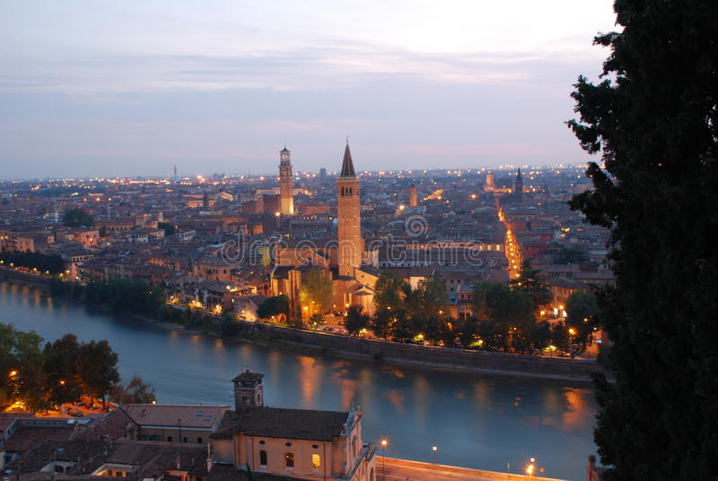 Verona panorama obraz stock