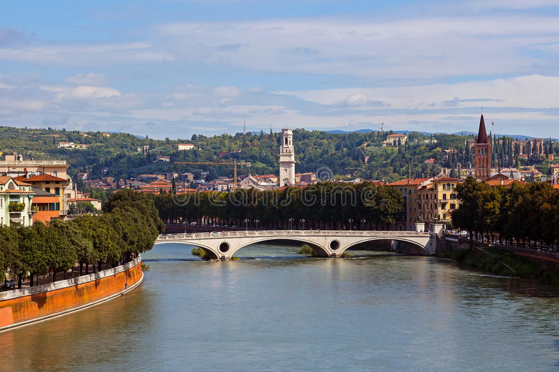 Verona pejzaż miejski zdjęcie royalty free