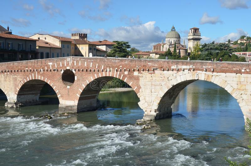 Verona Pietra i Ponte zdjęcie stock