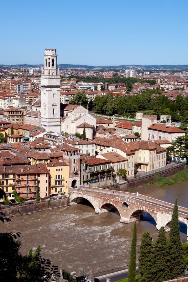 Verona - ponte de pedra (Italy) foto de stock