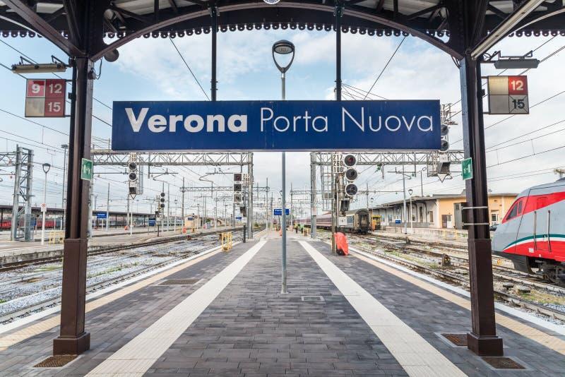 Verona porta nuova train station in italy stock photo - Partenze treni verona porta nuova ...