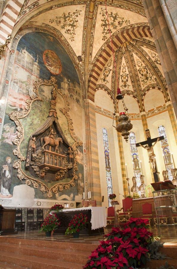 Free Verona - Presbitery And Cortesia Serego Monuments In Church Santa Anastasia Stock Image - 29402971