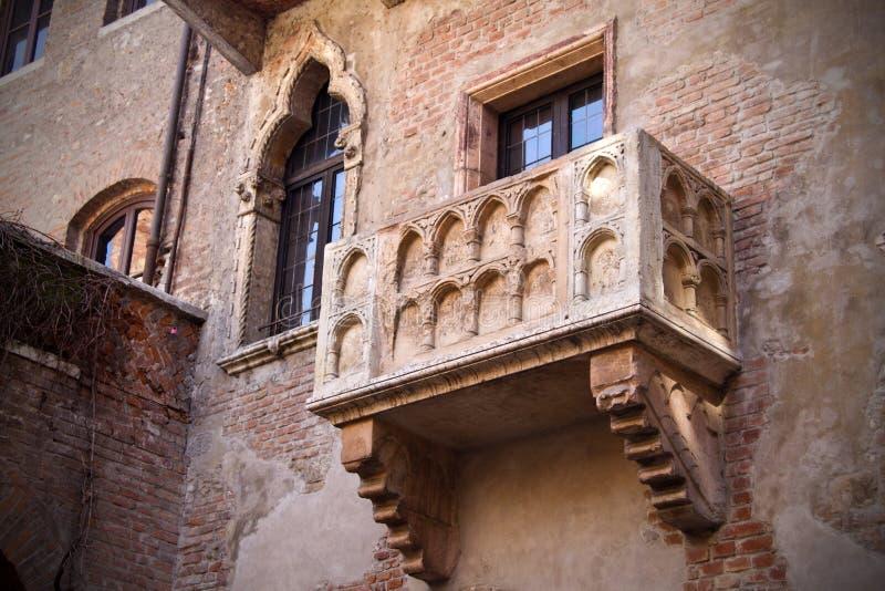 Verona, Romeo e Juliet Balcony foto de stock