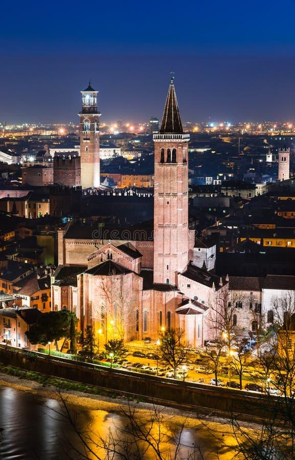 Download Verona Skyline, Night. Italy Stock Photo - Image: 30332976