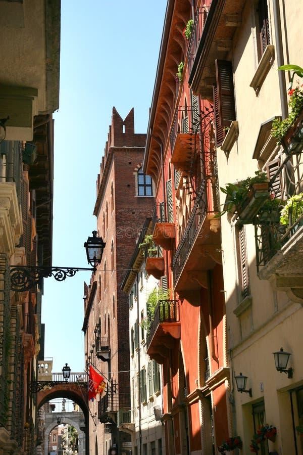 Verona street scene. View of Verona - street scene stock image