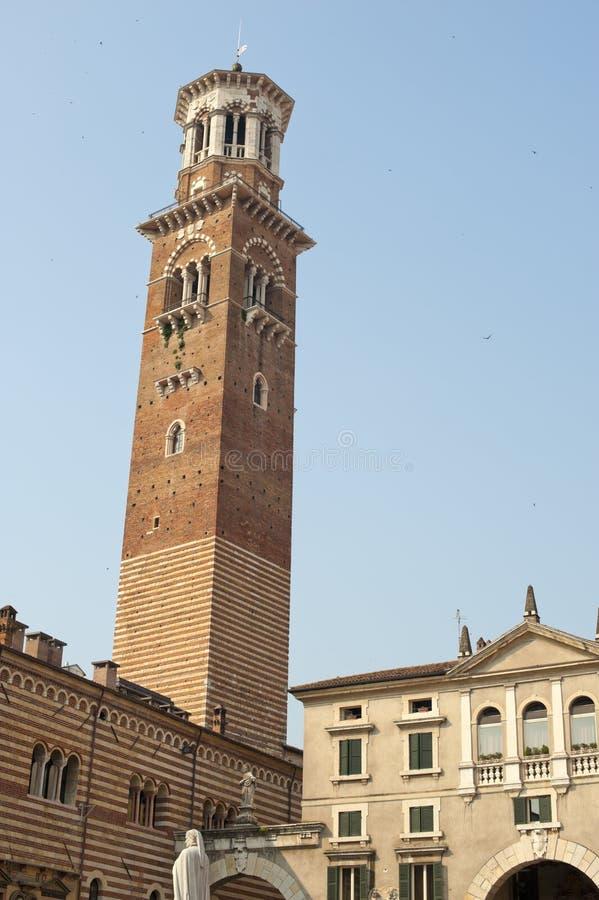 Verona (Véneto, Italy), torre antiga foto de stock royalty free