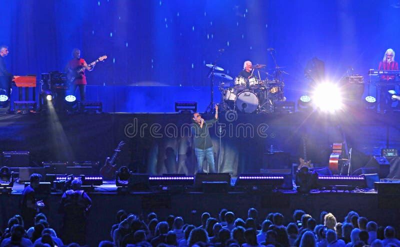 Verona, VR, Italy - September 23, 2018: VENDITTI live at Arena an italian singer. Verona, VR, Italy - September 23, 2018: Concert at Verona Arena of ANTONELLO stock photography