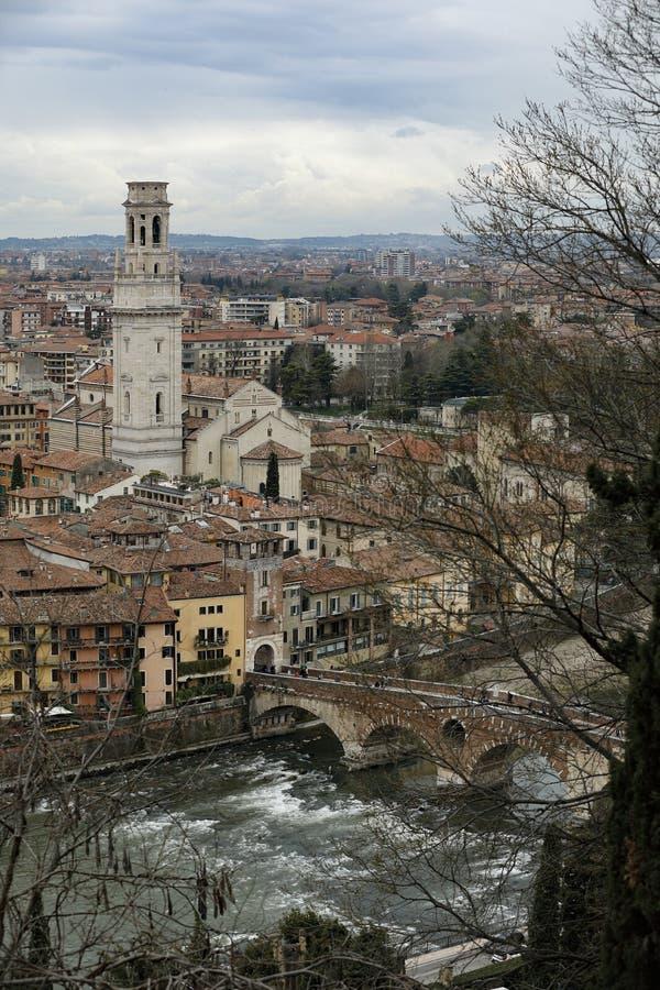 Verona Włochy Ponte Pietra fotografia royalty free