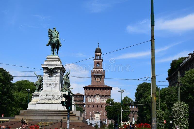 Verona Włochy sztuki kasztelu uliczny widok obrazy royalty free