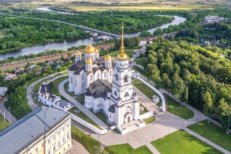 Veronderstellingskathedraal in Vladimir, Rusland royalty-vrije stock fotografie