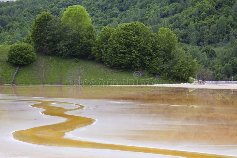 Verontreinigd water stock fotografie
