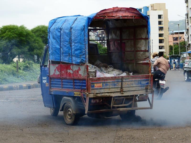 Verontreiniging in India stock foto's