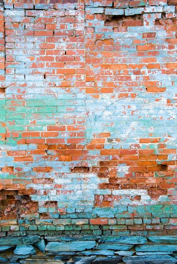 Verontruste bakstenen muur royalty-vrije stock foto's