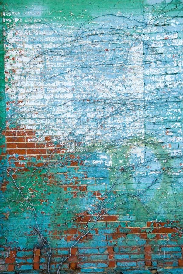 Verontruste bakstenen muur royalty-vrije stock foto