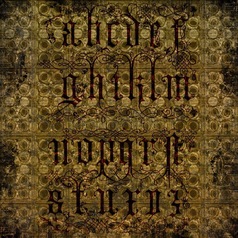Verontruste Brieven - Grungy achtergrond stock illustratie
