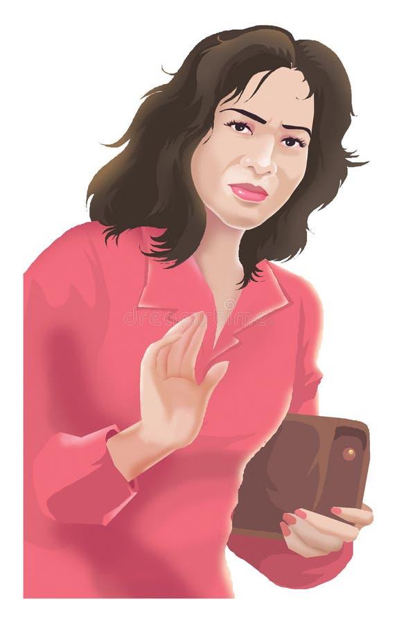Verontruste vrouw stock illustratie
