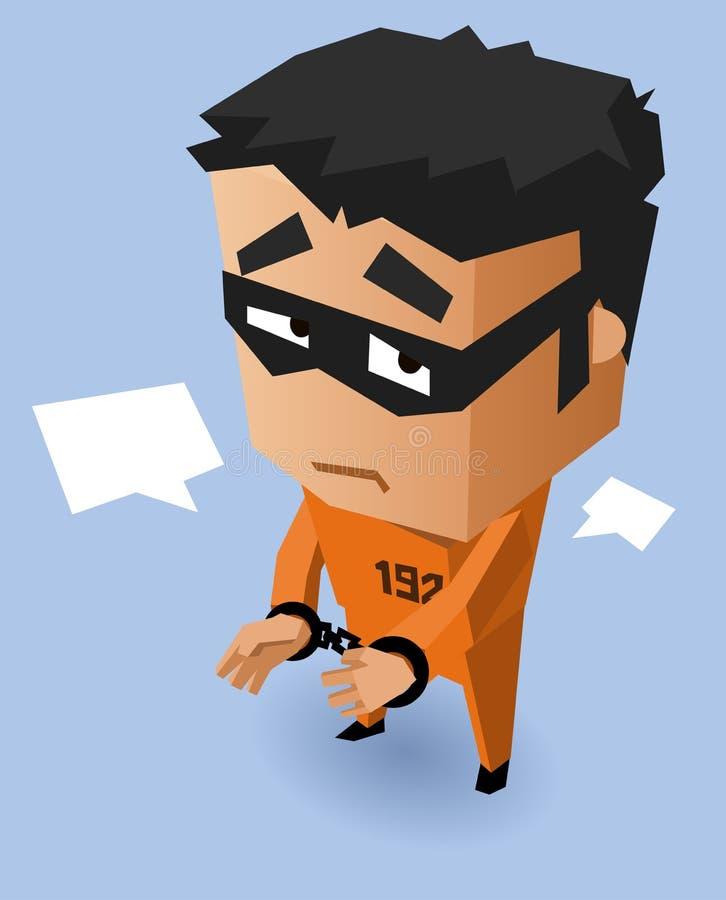 Veroordeel op Oranje eenvormig royalty-vrije illustratie