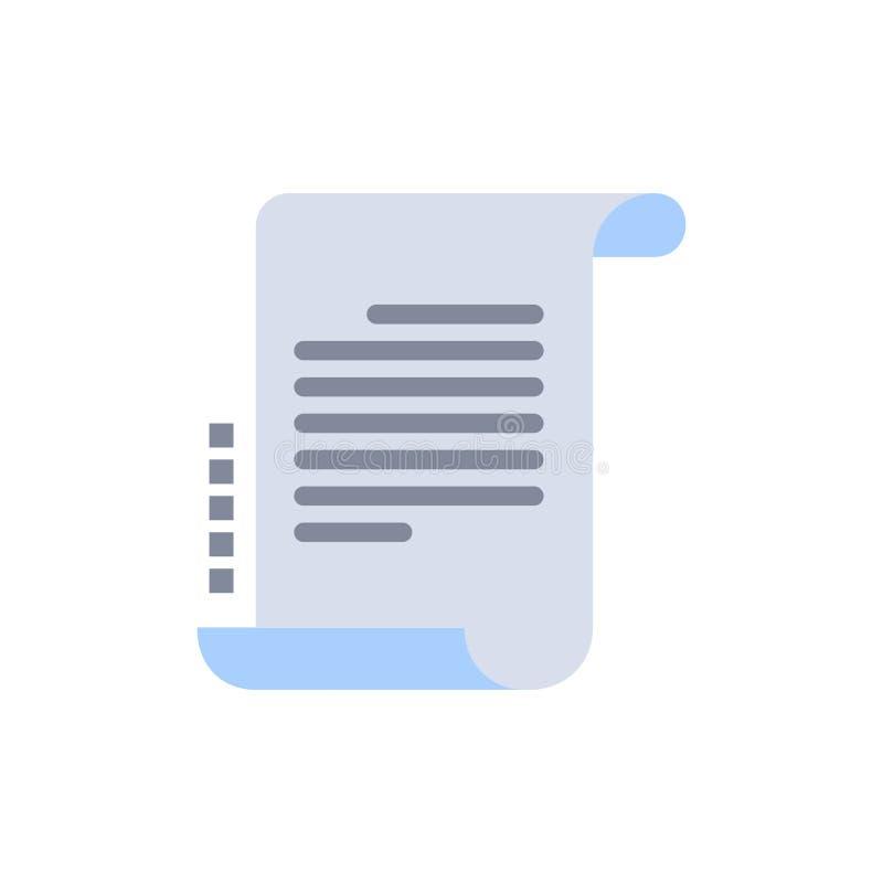 Verordnung, Roman, Szenario, Drehbuch-flache Farbikone Vektorikonen-Fahne Schablone vektor abbildung
