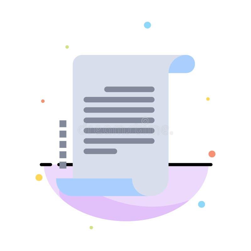 Verordnung, Roman, Szenario, Drehbuch-Zusammenfassungs-flache Farbikonen-Schablone lizenzfreie abbildung