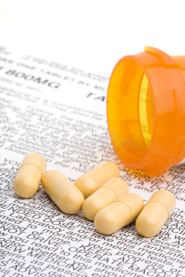 Verordnungmedikationantibiotika stockbilder