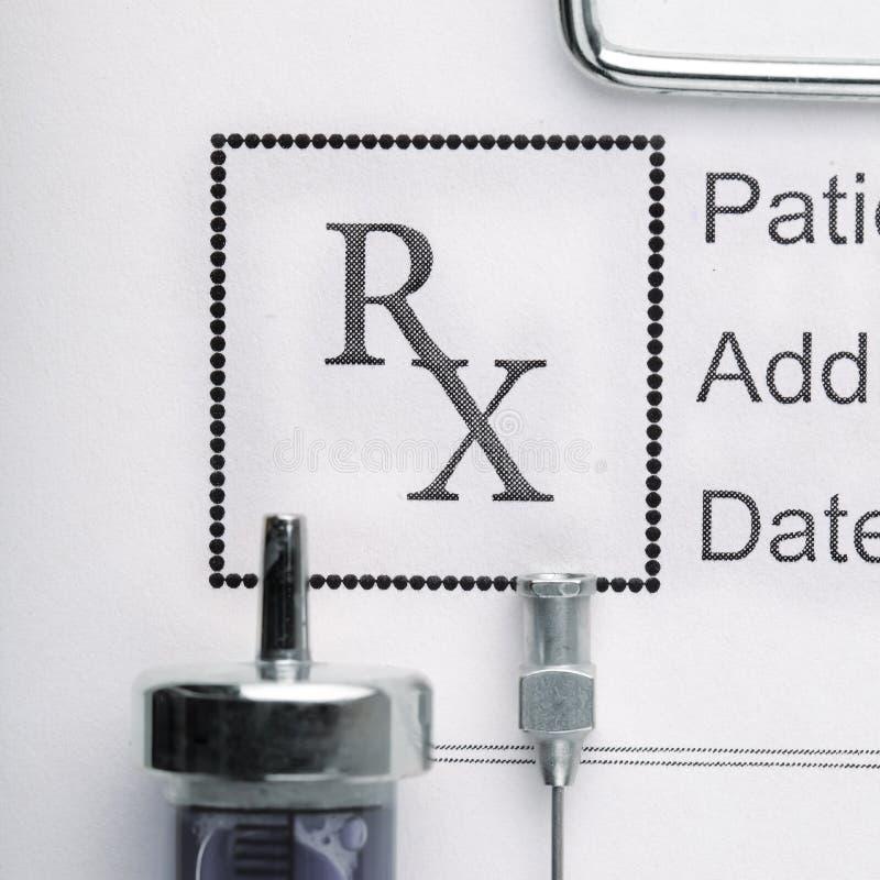 Verordnungsform von Medizin lizenzfreies stockfoto