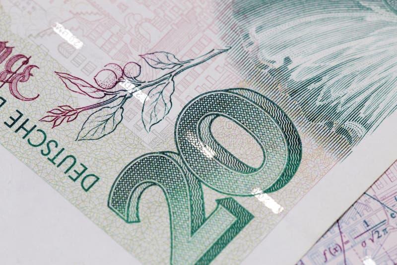 Verouderd bankbiljetdetail royalty-vrije stock afbeeldingen