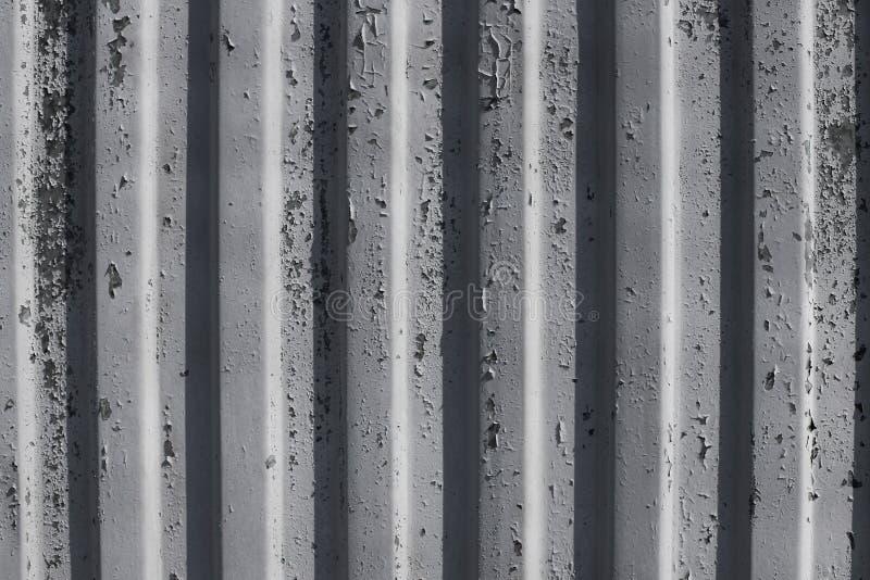 Verouderde de Verfachtergrond van de metaalmuur stock afbeelding