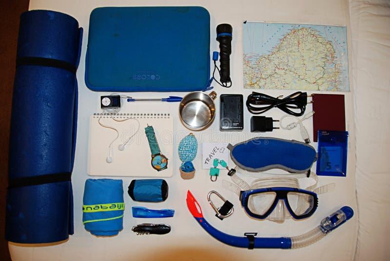Verpacken für eine Reise lizenzfreie stockfotos