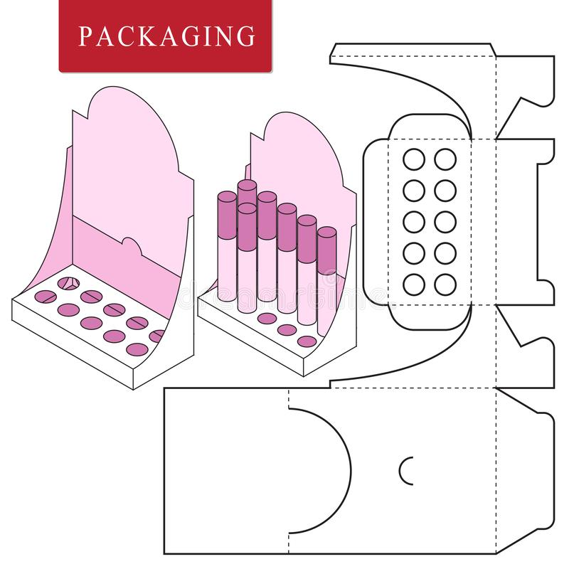 Verpacken f?r Kosmetik- oder skincareprodukt lizenzfreie abbildung