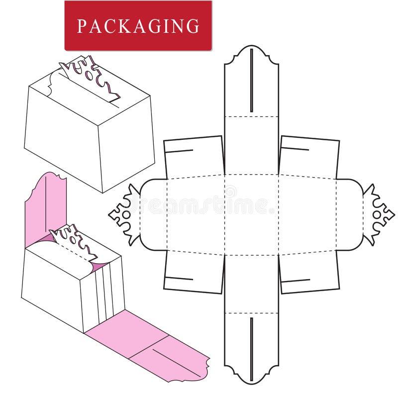 Verpacken f?r Kosmetik- oder skincareprodukt stock abbildung