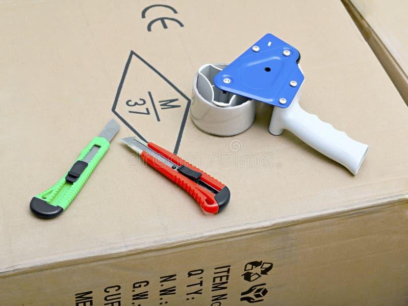 Verpackenband-Gewehr-Zufuhr stockfotos