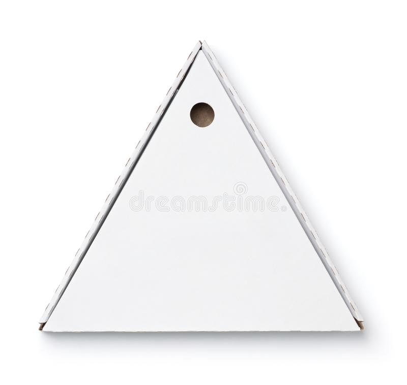 Verpackenpizzakasten des leeren Dreiecks lizenzfreie stockbilder