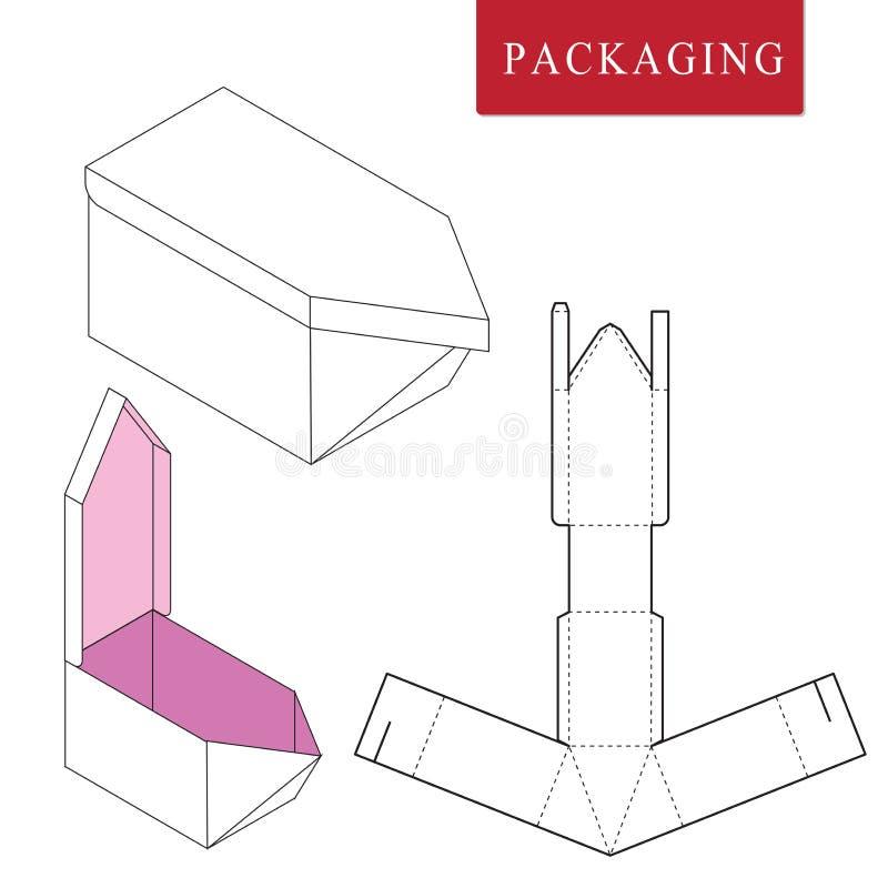 Verpackenschablonenschiffskonzept f?r Gesch?ft vektor abbildung