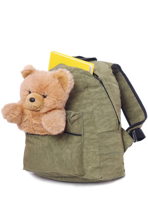 Verpackte Schultasche lizenzfreies stockbild